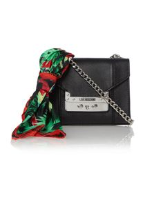 Black mini saffiano cross body bag