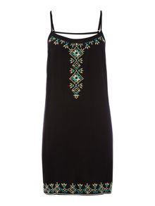 Embroidered tribal sundress