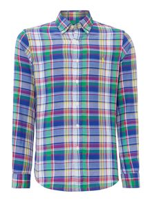 Polo Ralph Lauren Bright Check Slim Fit Long Sleeve Shirt