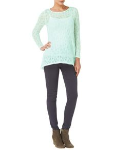 Plain Pointelle Joplin Top