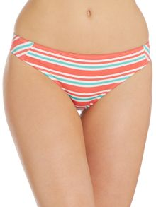 Melon Stripe Bikini Brief