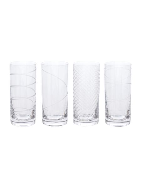 Linea Kimberley crystal hi-balls set of 4
