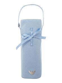 Babys polka dot bottle holder