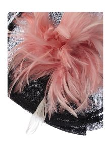 Ella Feather Trim Beautiful Headpiece