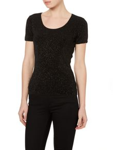 Cap sleeve sparkle t-shirt