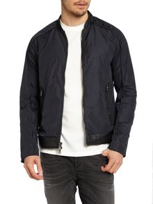 Leather piped jacket