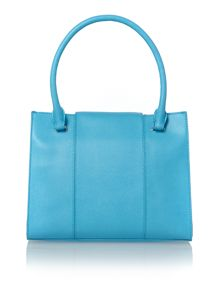 Blue medium saffiano tote bag