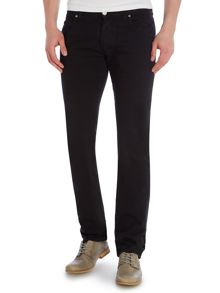 Slim Straight Mid Rise Trousers