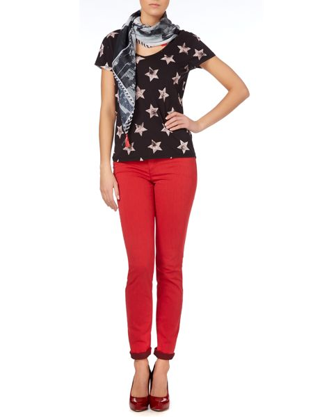 Oui Cotton star print t-shirt