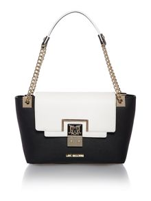 Black frame medium tote bag
