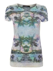 Oui T-shirt with graphic print