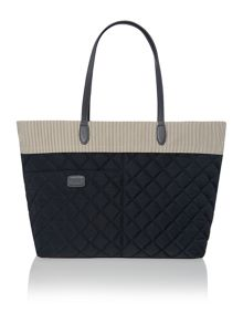 Claremont hill navy large tote bag