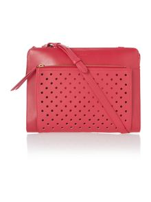 Clerkenwell punch pink medium crossbody bag