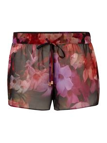 Cascading Floral Carliza cover-up shorts