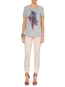 Oui Cotton T-shirt with graphic print