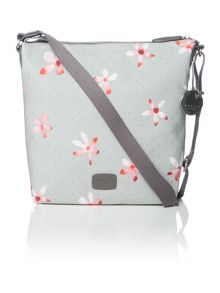 Cloudsley grey medium crossbody bag