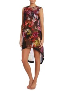 Cascading Floral Ceata dress cover up