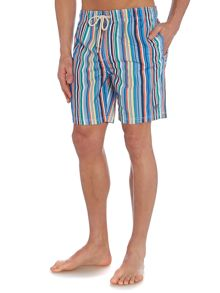 Howick Multi stripe swim shorts