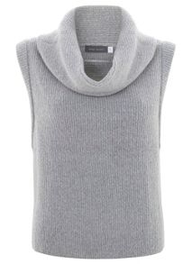 Silver Grey Cropped Tabard