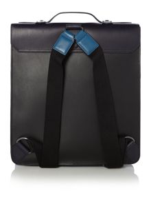 Colour block leather backpack