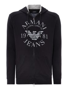 Large Logo Zip Through Hoody