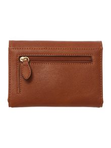 Tan medium flap over purse