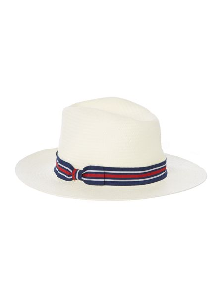 Howick Tailored Panama Hat With Striped Band