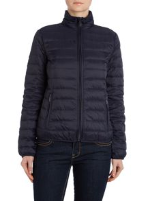 Short padded lightweight down jacket