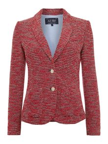 Single breasted textured blazer jacket