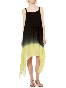 Dip Dye Hem Swing Dress