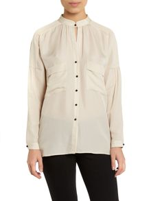 Longsleeve blouse with pockets