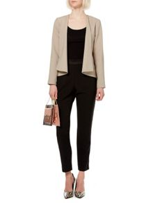 Soft tailored drape jacket