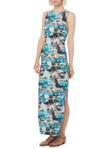Blue Ink digi maxi dress