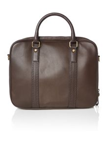 Ted Baker Broguing leather document bag