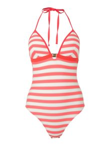 Tommy Hilfiger Halter stripe swimsuit