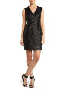 Hoss Intropia Textured v neck dress