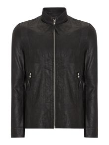 Religion Zip Up Leather Jacket
