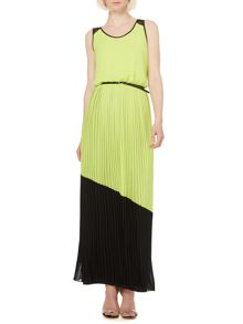 Occasion pleat maxi dress