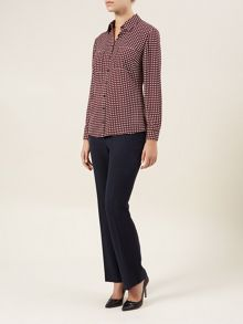 Claret and Ivory Spotted Shirt