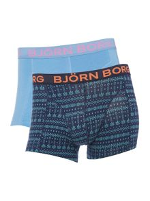 2 pack tribal knit and plain trunk