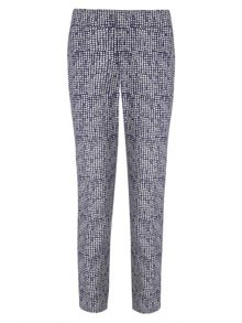 Erica square print trousers