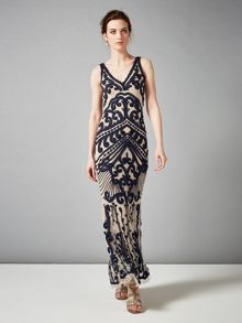 Sybil tapework full length dress