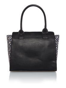 Nikki black large shoulder tote bag