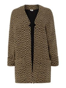 Hoss Intropia oversized diamond print coat