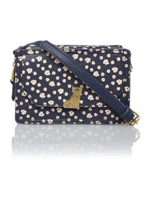 Venice navy cat flapover crossbody bag