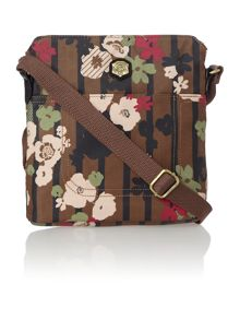 Evelin multi coloured print cross body bag