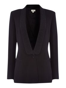 Hoss Intropia Tuxedo blazer with lapel detail