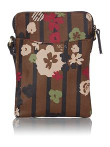 Sofia multi coloured print small cross body bag