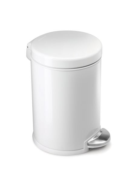 Simplehuman 3L Mini Pedal Bin in White