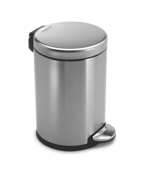 Simplehuman 3L Mini Pedal Bin in Brushed Steel
